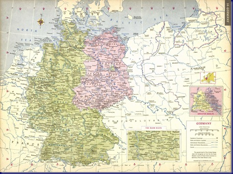Maps Of Places That Arent There Any More 1 West And East Germany