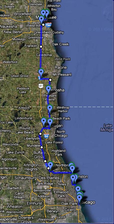 Chicago to Milwaukee