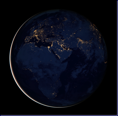 Night Lights of Europe, Africa and Western Asia