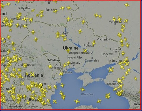 Planes Flying Around Ukraine