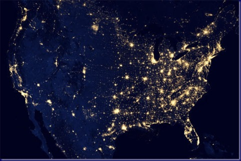 Night Lights of the USA