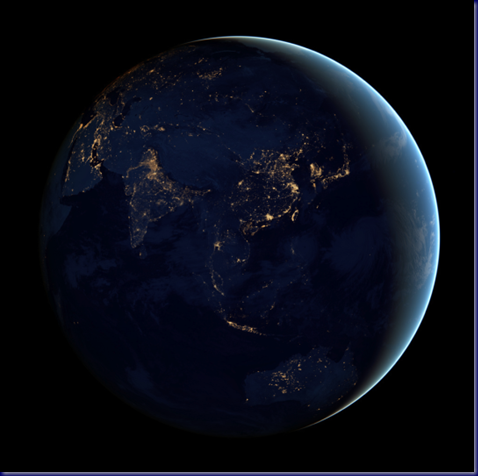 Night Lights of Eastern Asia and Oceana