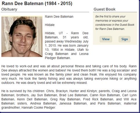 Rann Dee Bateman Obituary