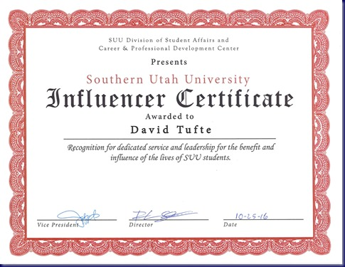 Influencer Certificate