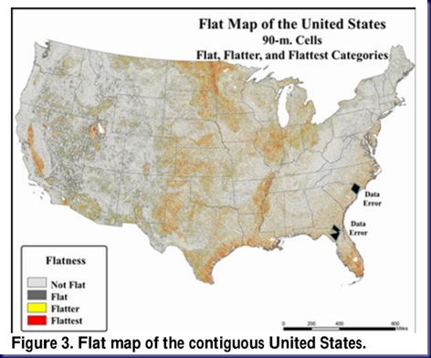 Flattest Regions of the US Capture