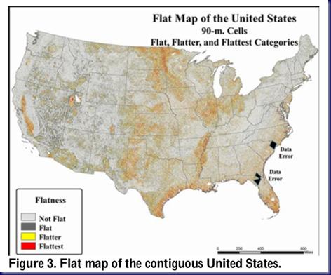 Flattest Regions of the US Capture