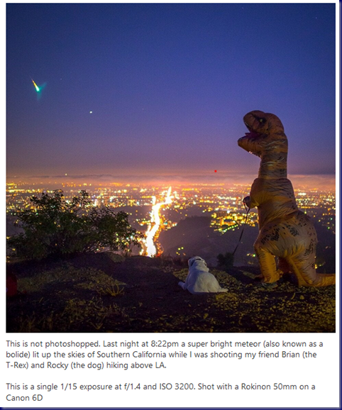 T-Rex and Dog Watch Meteor Over LA;Mltshp 19-12-20;Annotation 2019-12-20 093208